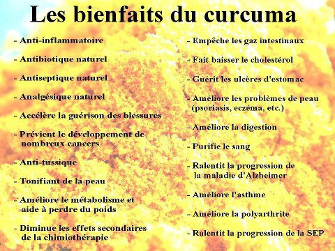 vertus du curcuma