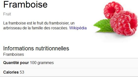 la framboise en détails sur Wikipédia et la Cétone de framboise pour maigrir ? (Détails nutritionnels)