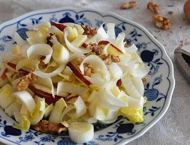 Recette brûleur de graisse : Salade d'endive/noix/pomme